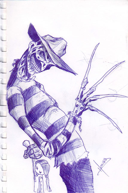 Freddy Krueger 15-Minute Sketch. Okay, maybe 20-Minutes.