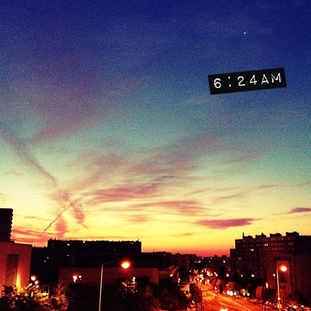 #insomnia #sunrise #clouds #sky #beauty #nature #paris #france #summer  (Taken with Instagram)