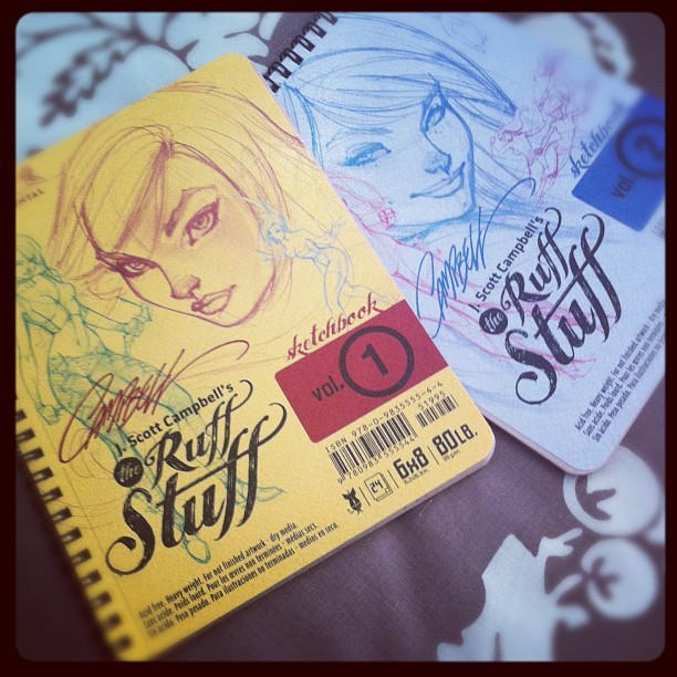 Some new sketchbooks I got in the mail today. J Scott Campbell's Rough Stuff vol 1 & 2. (Taken with Instagram)