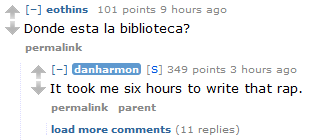 Favorite thing I read on the Dan Harmon AMA.