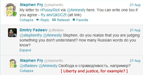 montidrew:  Stephen Fry, ladies and gentlemen. Praise him.  Best human.