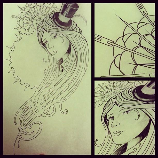 Victorian Girl Tattoos Victorian Steampunk Girl
