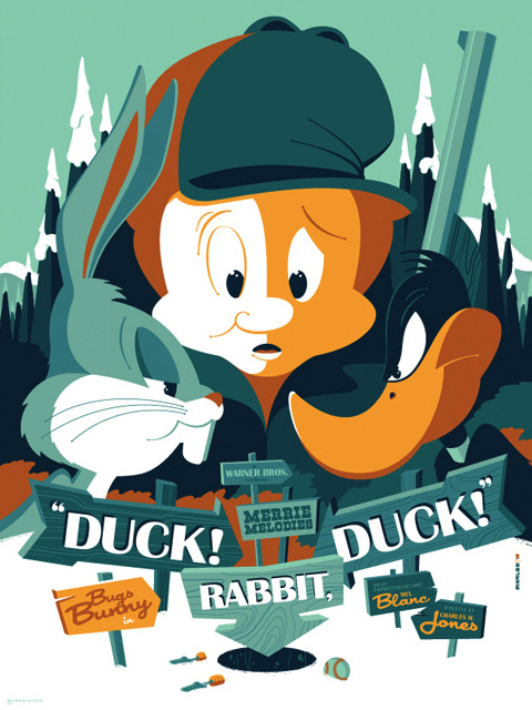 mondo : warner bros. : duck! rabbit, duck! (been waaay too long since i tumbld something.)