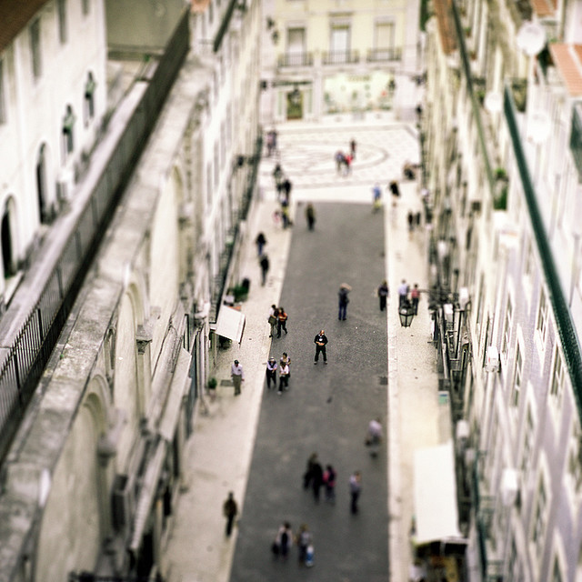 | ♕ |  Downtown Lisbon - Tilt-Shift  | by © Ayo Umali