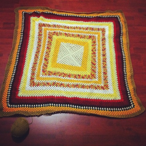 On Row 65 #crochet #wool #blanket #handmade (Taken with Instagram)