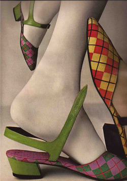 hoodoothatvoodoo:  Outbreak Of Argyle By Evelyn Schless, Vogue 1960s