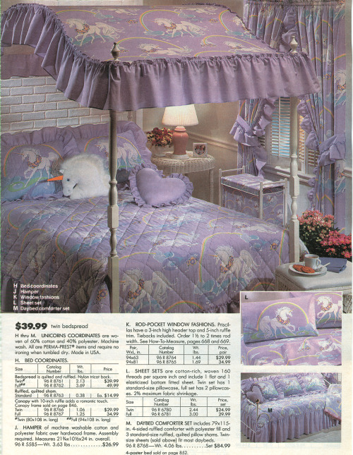 cosmicgirlfriend:  insidethevalley:  From 1991 Sears catalog