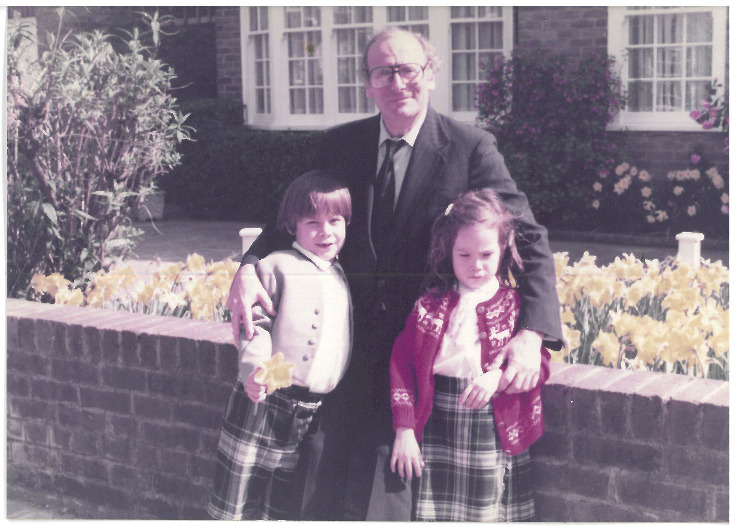 In London with my brother Alexis and our grandfather, 1983.