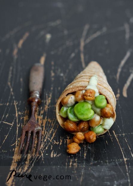 Butter Cones & Roasted Chickpea Salad