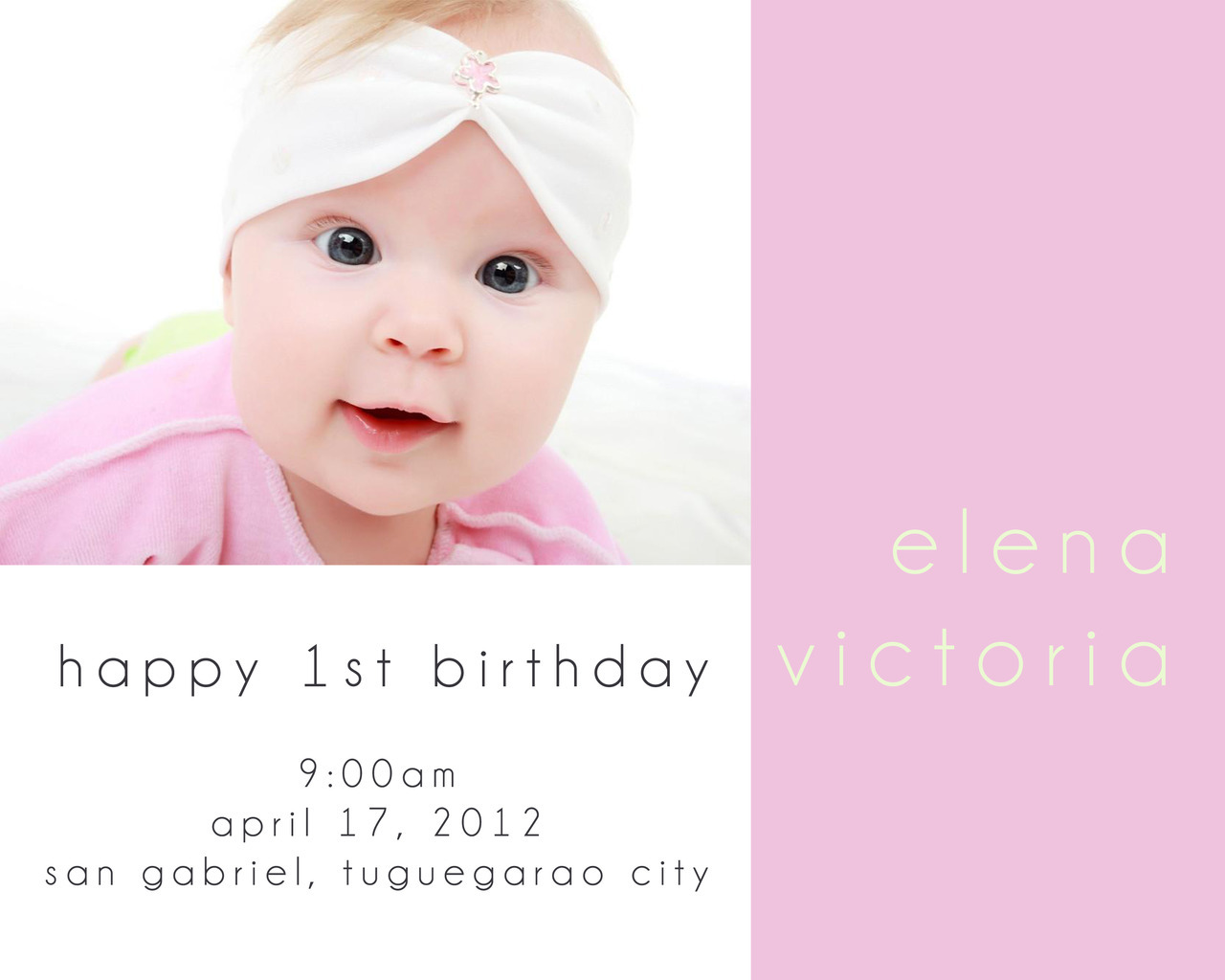 sample invitation #1