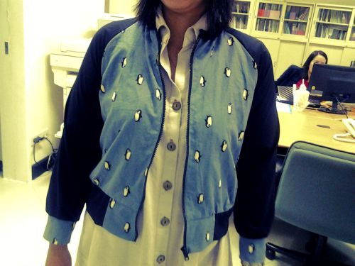 Penguin lover, Don't miss. My new jacket with penguin print. ^.^