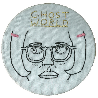 fantagraphics:  Embroidered Enid by Leah Rials.  well that's cool