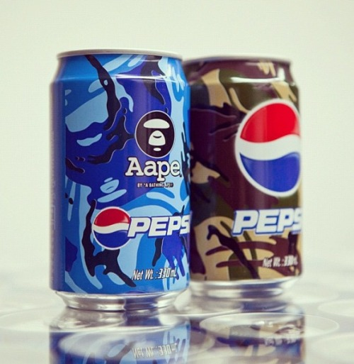 Brilliant marketing idea with Pepsi teaming up with famed fashion designer Nigo, creator of the popular Bathing Ape / BAPE clothing line. Are you a Pepsi or a Coke drinker?