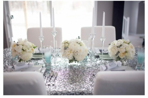 sequined table setting