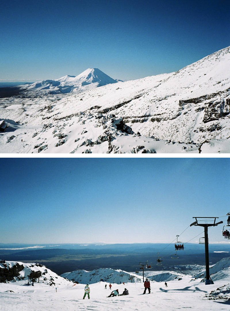 Mt Ngauruhoe & Whakapapa Ski Resort Mt Ruapehu, New Zealand Olympus mju-II / Stylus Epic (Fujicolor 100) My home away from home, if only I could get down as much as I used to.