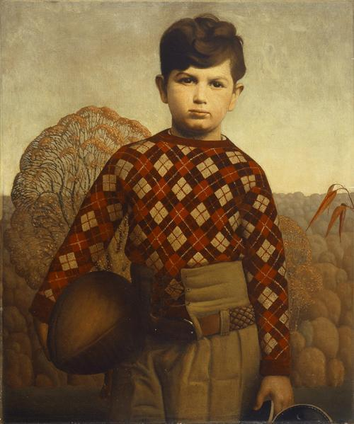 laflaneuse8:  Grant Wood, Plaid Sweater, 1931