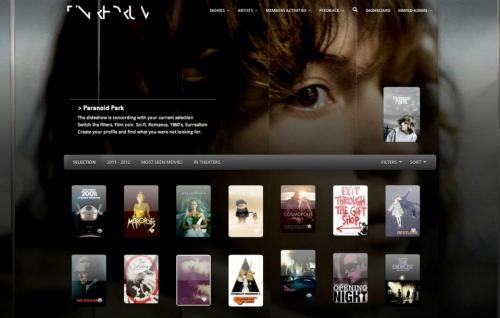 GET LOST IN TIN REDRUM let's you compose your visual wall of movies and artists.