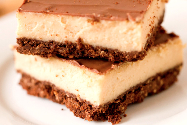 chocolate and pb cheesecake bars
