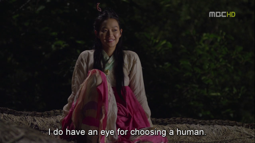 """I do have an eye for choosing a human"""
