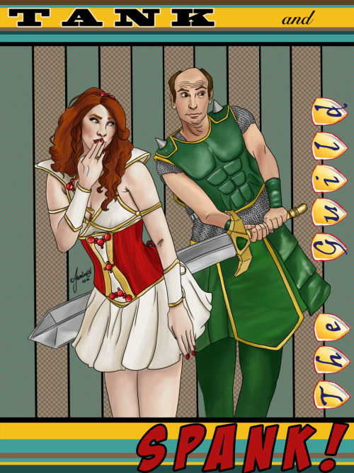 jeminabox:  Tank & Spank painting finished! @feliciaday & @Vork (Jeff Lewis) as Codex & Vork from @theguild Shazam! {{:oD Video progress up on my YouTube channel. Sorry about the blurry quality - video compressing/exporting is not my forte clearly. I've been posting progress shots on my other tumblr, but you can see them here Tank and Spank by *jeminabox August 23, 2012