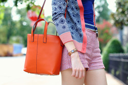 orange bag and other brights on district of chic