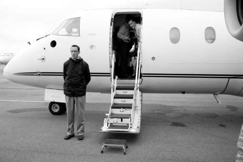 timelightbox:  Aug. 18, 2012. Mitt Romney boards a plane at Martha's Vineyard Airport on his way to a finance event in Hyannis, Mass.  Traveling with him through more than 10 states this summer, photographer Lauren Fleishman has documented Mitt Romney's buildup to the Republican National Convention, held next week in Tampa. See more photos here.