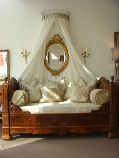 antique Louis Philippe bed