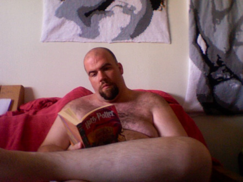 Happy Nude Readingness. I'm currently (re)reading the Harry Potter series, because it's so hot in Texas that even being nude is wearing too much clothing, and no other book or series is as good as making me feel like Autumn has finally arrived.
