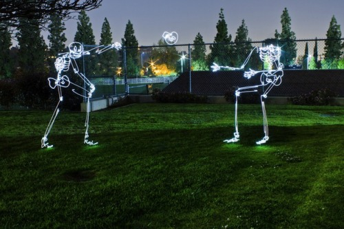 Light Graffiti Skeletons by http://dariustwin.com/