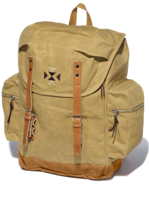 beyondfabric:  Eastpak x Wood Wood Backpack  holy backpack, batman.