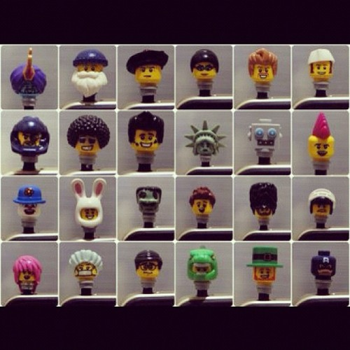 Minifigures head earphone plug. Feel free to choose :) #lego #legostagram #minifigures #toyphotography #earphoneplug #iphone  (Taken with Instagram)