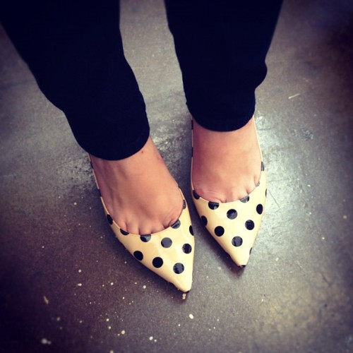 Dying over @notetosarah's polka @katespadeny kicks… #altny (Taken with Instagram)