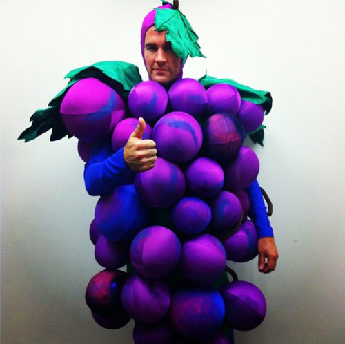 James Van Der Beek shows off his grapes. [via]