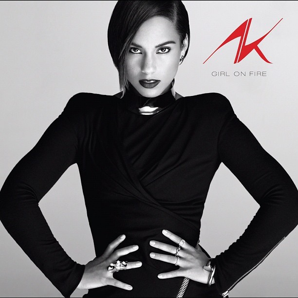 thekeysofalicia:  Just chose the album art for my new album #girlonfire!!! Coming at you 11/27!!! R u excited?! I AM!!! ;-) (Taken with Instagram)  Fierce!
