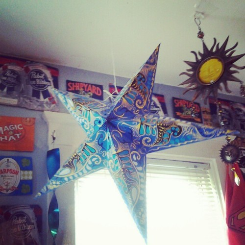 Finally hung my spiffy star up (= (Taken with Instagram)
