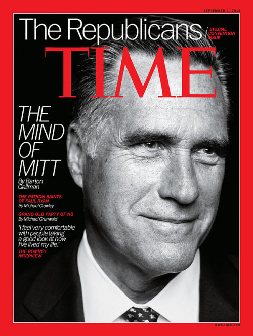 "timemagazine:  The latest issue of TIME, featuring our cover story, ""The Mind of Mitt,"" will hit newsstands Friday. (Photograph by Peter Hapak for TIME)  Mitt Romney en la portada de Time. La mente de Mitt."