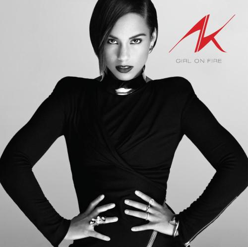 "Alicia Keys unveiled the album art for her upcoming ""Girl on Fire"" album."