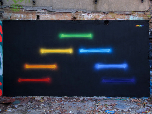 'X-Rainbow' by SHOK-1 on Flickr.Nice rainbow Shok in London