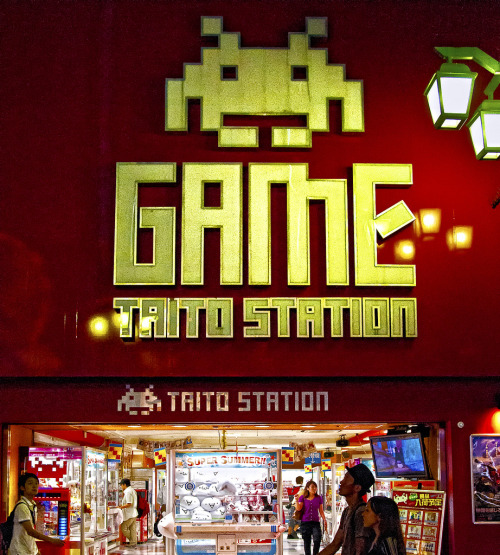 Game: Taito Station TAITO Station is one of the leading names in Japanese arcade gaming. Featuring the latest selection of arcade games, prize games boasting popular anime and manga memorabilia, ultra-realistic and high-tech virtual games, photo sticker booths and more! A fun, uniquely Japanese experience is guaranteed! Image by ajpscs (via:gamefreaksnz)