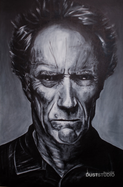 New work completed last night. Clint Eastwood. 24x36 Oil on canvas. Approximately 11 hours.  I think this is the best painting I have done to date. So much inspiration around me the last two weeks.