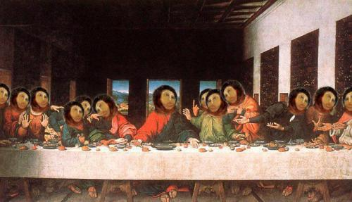 Homo, ecce homo, everywhere… The VIP Last supper.
