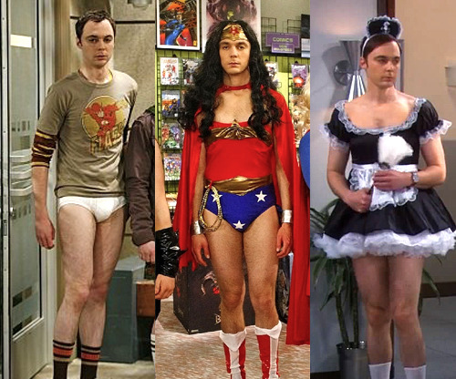 It is another post of Sheldon not wearing any pants. lol.