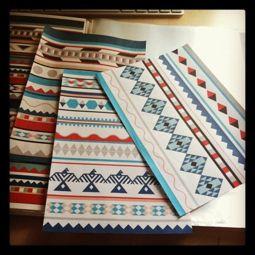 Making progress with the notebooks (Taken with Instagram)