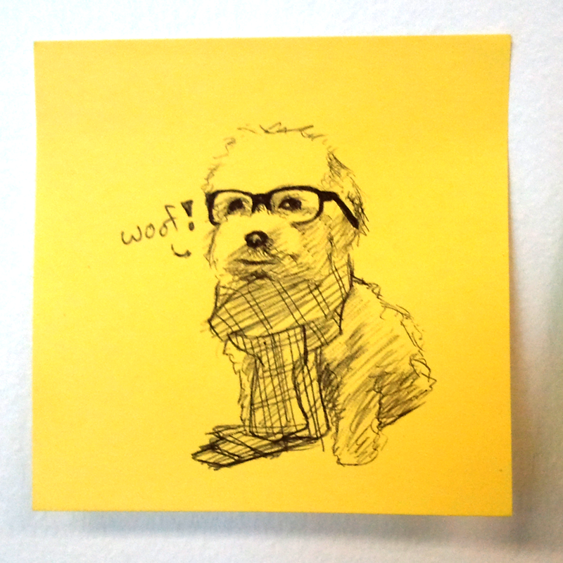 I like drawings on post-its. Especially if it's me.