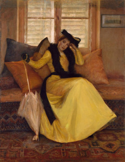 artshers:  Susan Watkins - Lady in Yellow c.1906.
