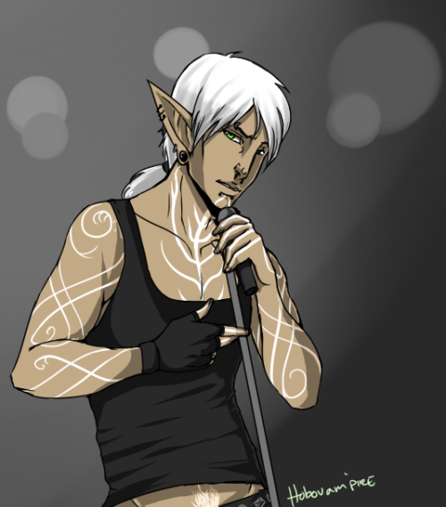 Ciana's rocker Fenris. A commission and this one I colored because…of reasons. x: