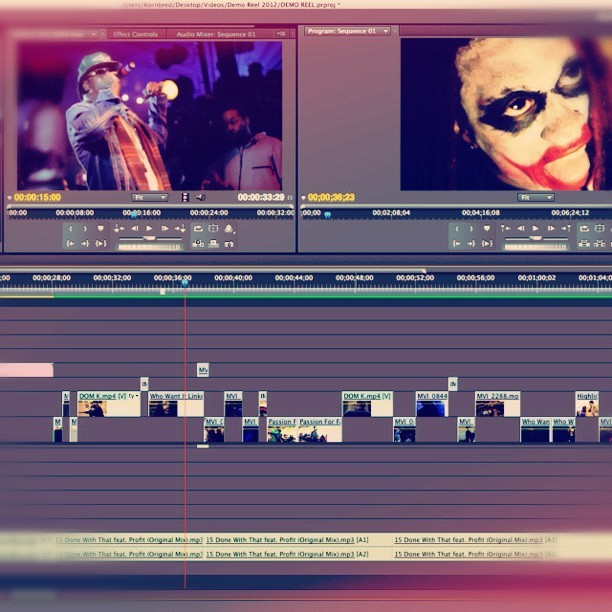 demo reel edit!! (Taken with Instagram at 💻🏠)