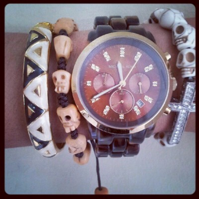 Arm candy. #skulls (Taken with Instagram)
