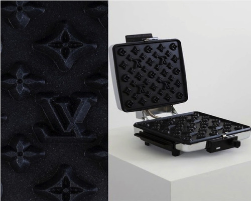 Louis Vuitton Waffle Maker  by Black & Decker Grill and Waffle BakerA I definitely want my waffles to match my girlfriend's wallet.
