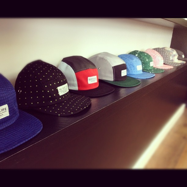 Quiet Life 5 panel selection @dan_urbanindustry #thequietlife #menswear #autumn12 #5panel #urbanindustry #streetwear #eastbourne #quietlife #cosmos  (Taken with Instagram)